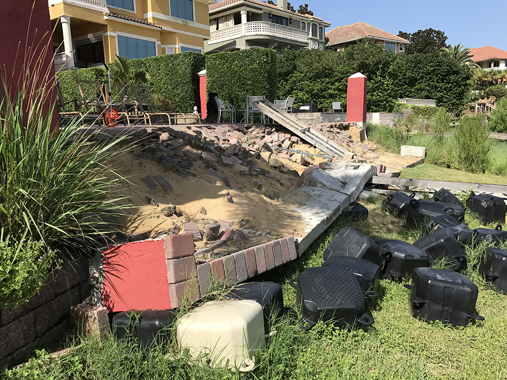 retaining wall damage repair