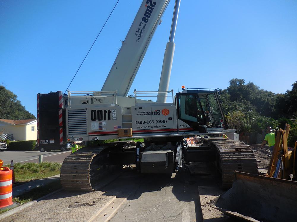 steel sheet piling installation