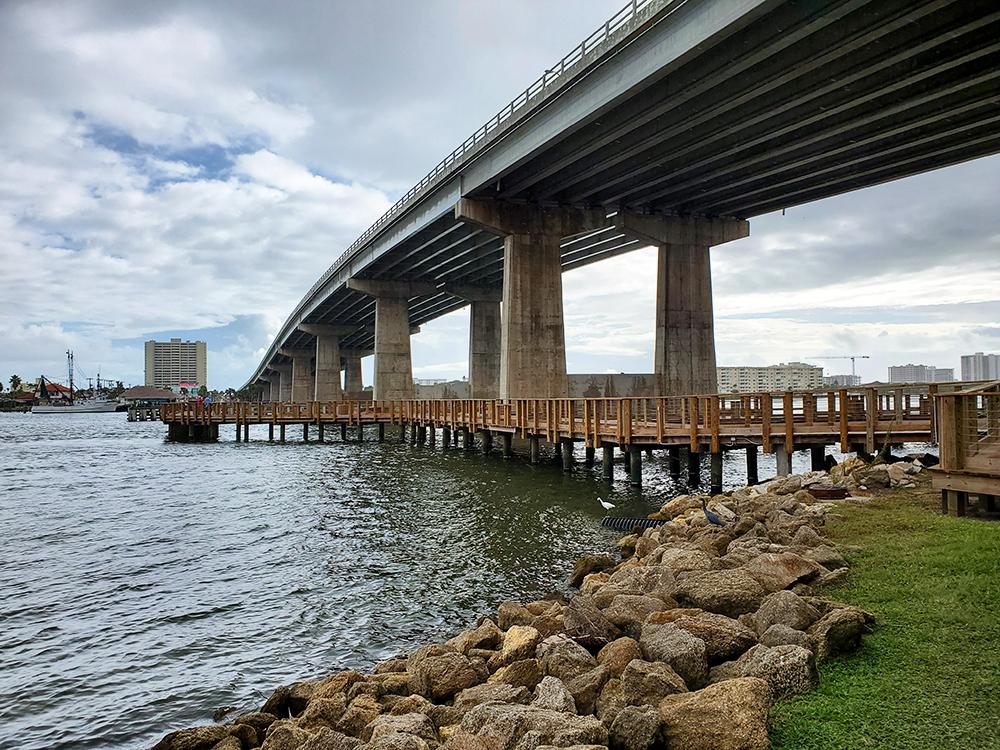 building a pier on the ocean