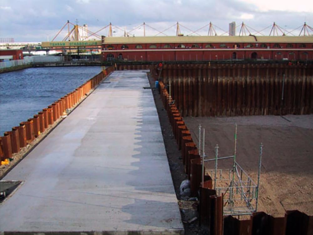 Temporary Cofferdam Construction Services Fender Marine Construction