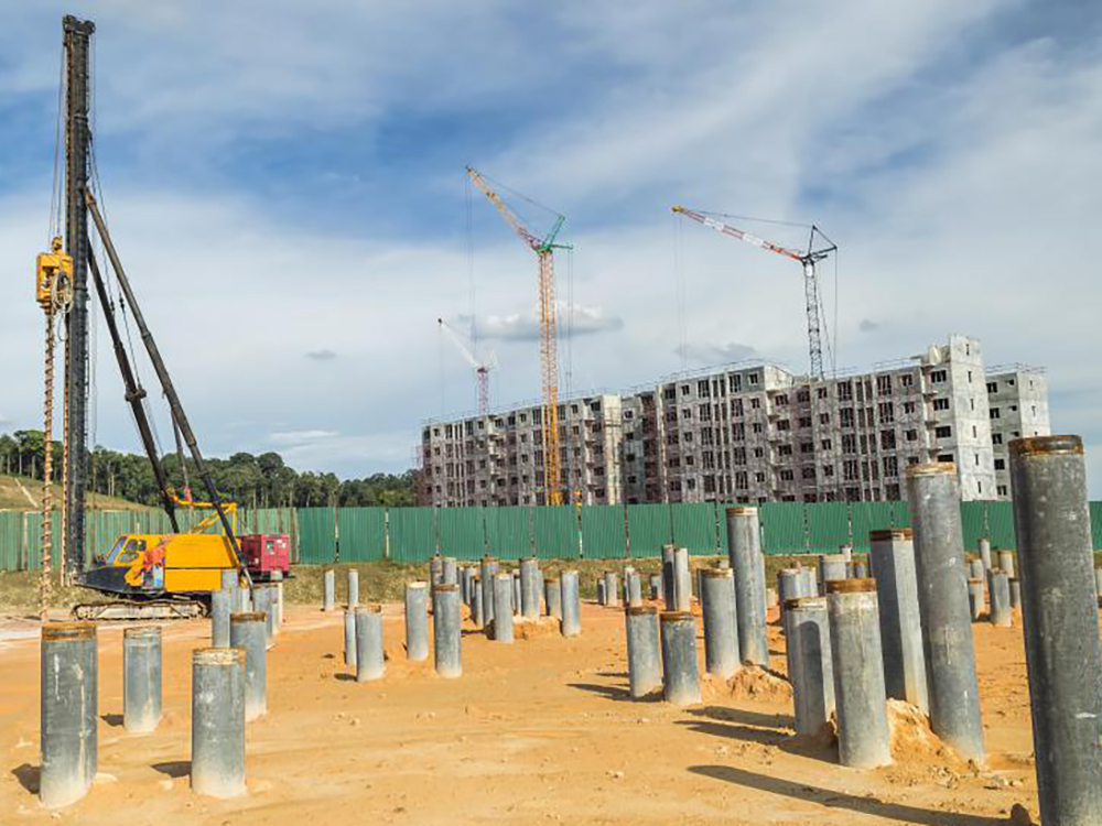 concrete pile fender marine construction