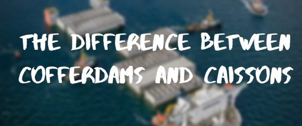 the difference between a cofferdam and caisson