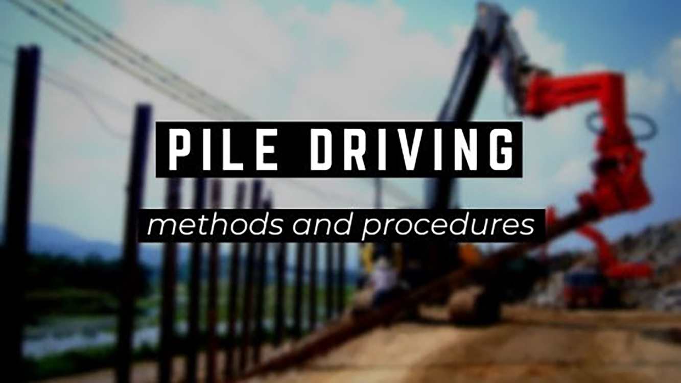 Pile driving methods and procedures