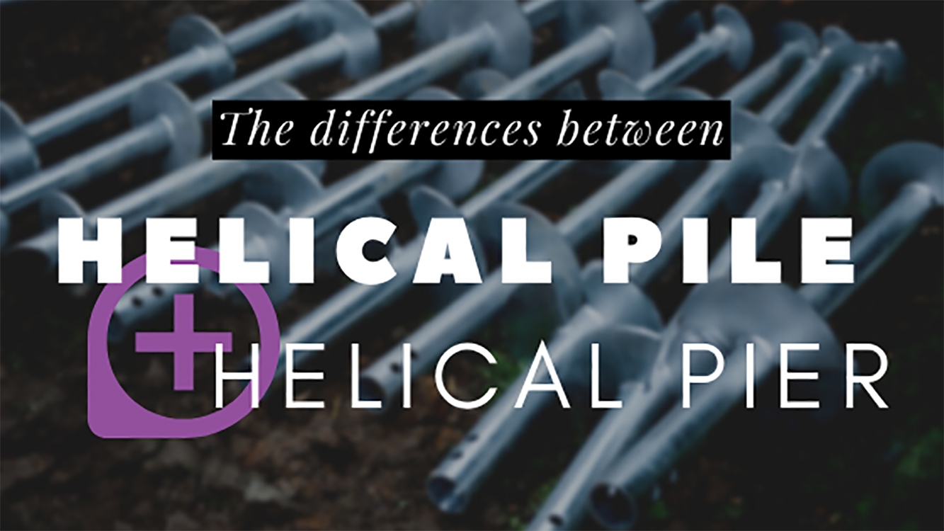 difference between helical pile and pier