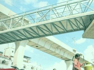 pedestrian bridge skywalk