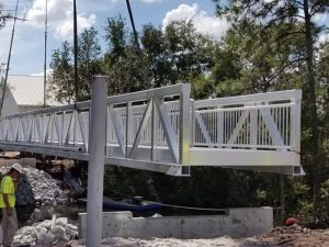 top pedestrian bridge contractors fender marine