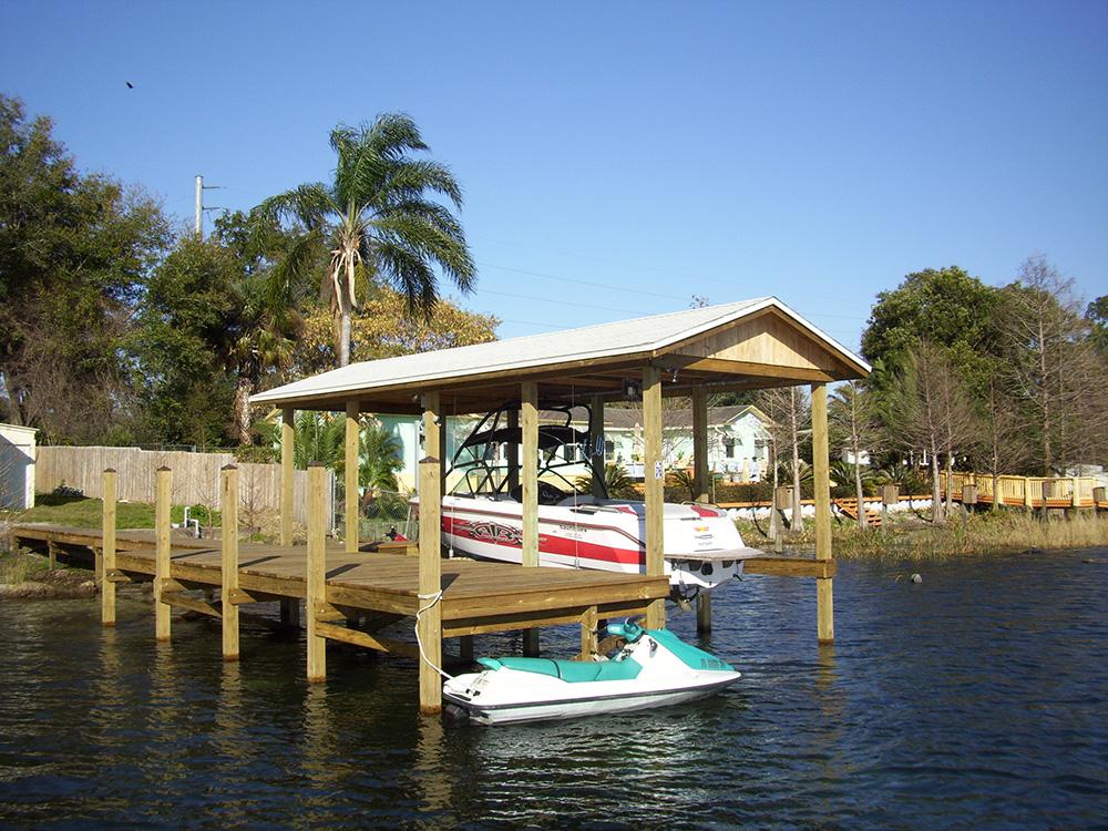 basic boat dock central florida