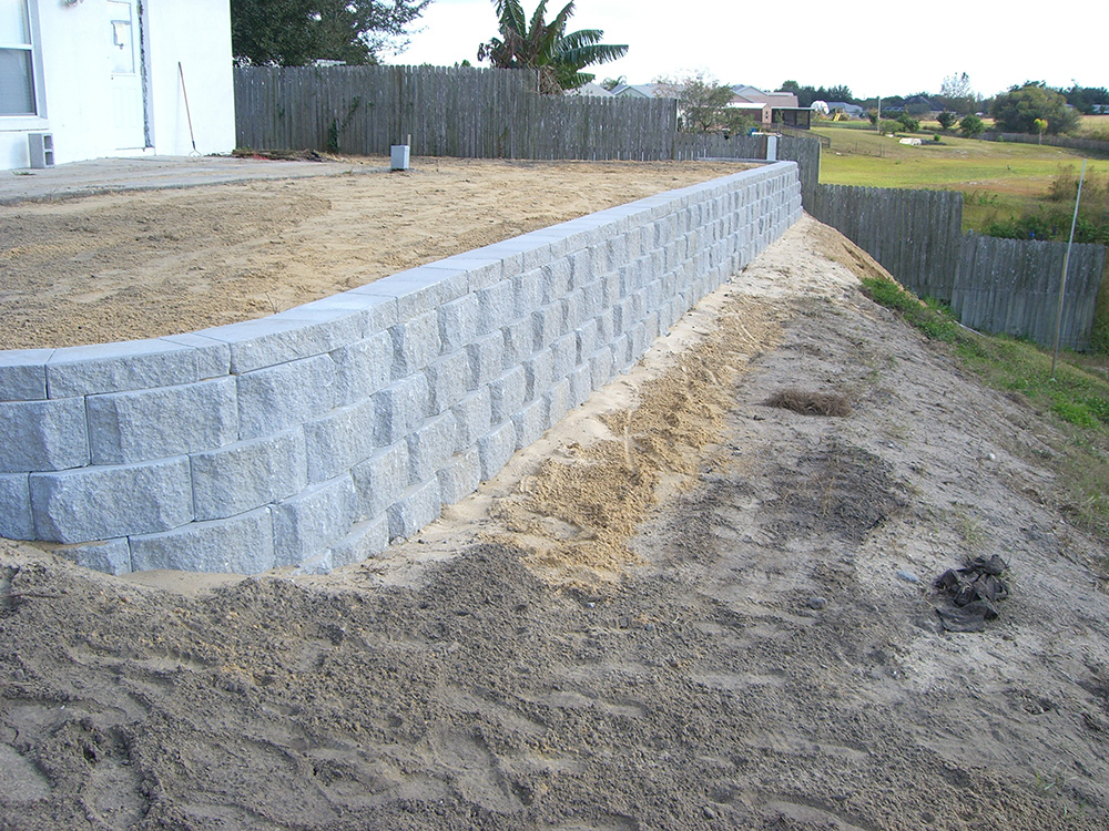 basic retaining wall services
