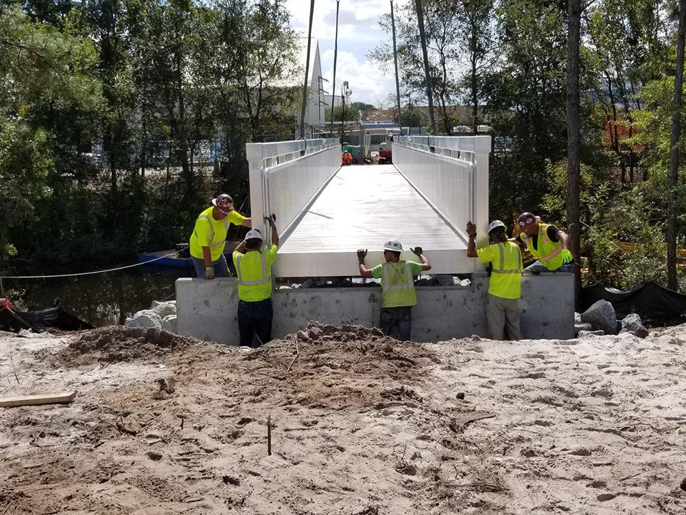 pedestrian bridge builder orlando florida