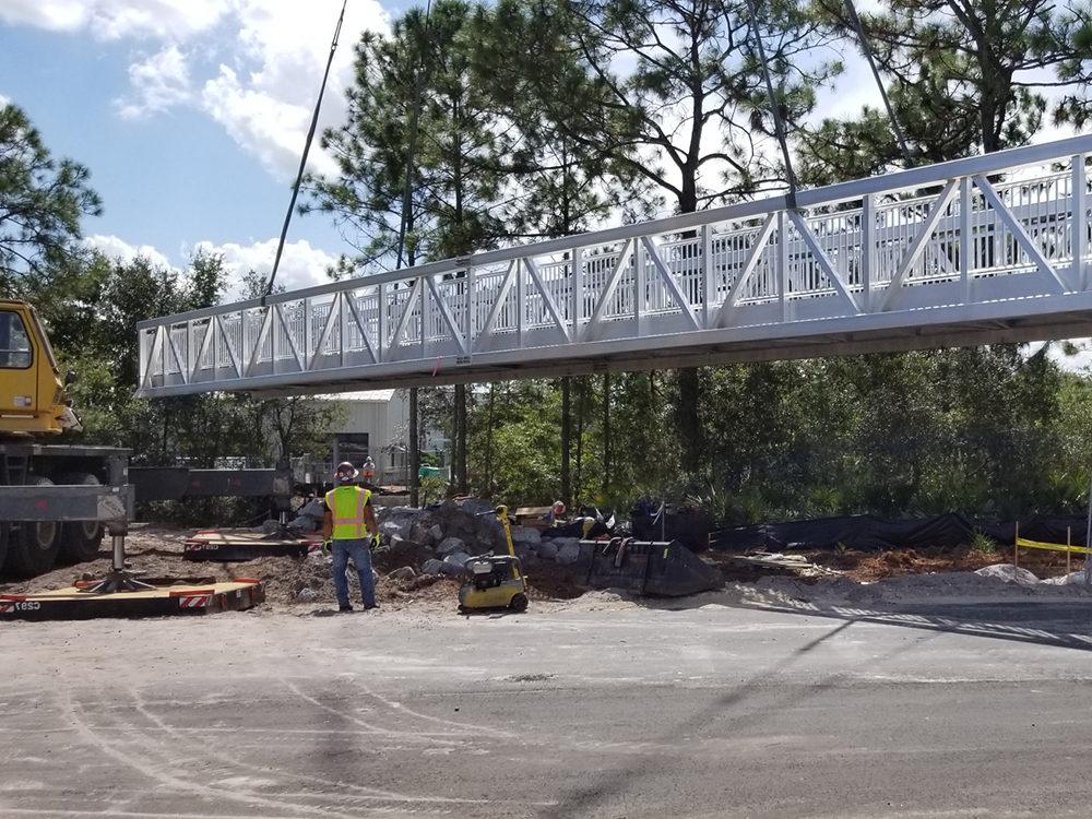 pedestrian bridge contractor orlando