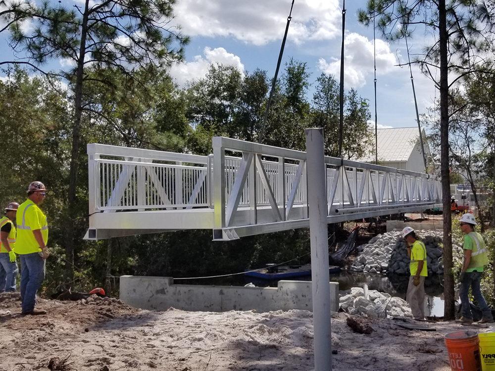 pedestrian bridge fender marine construction