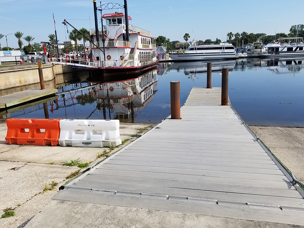 boat ramp installation