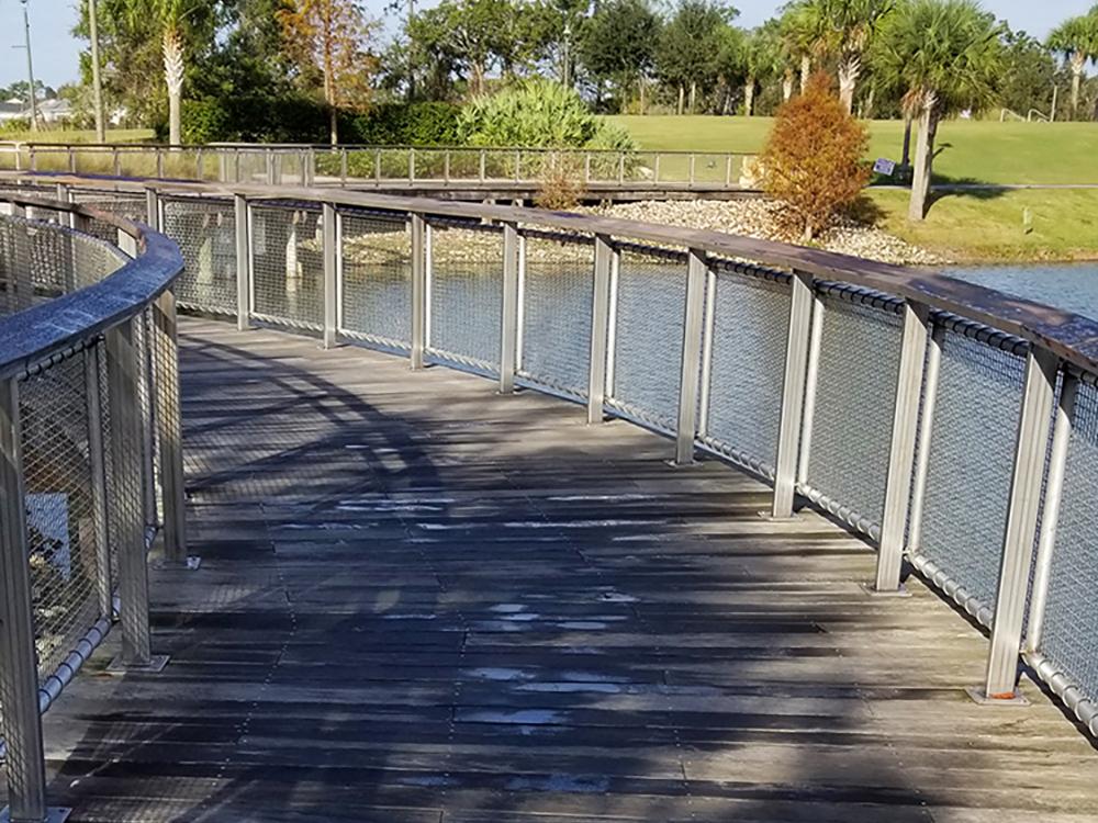 custom boardwalk fender marine construction