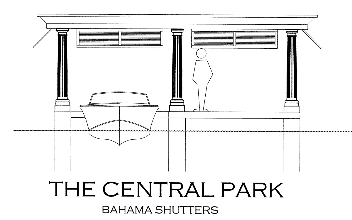 The Central Park Bahama Shutters Boathouse Design