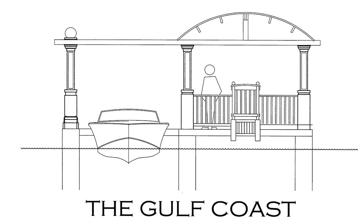 The Gulf Coast Boathouse Design