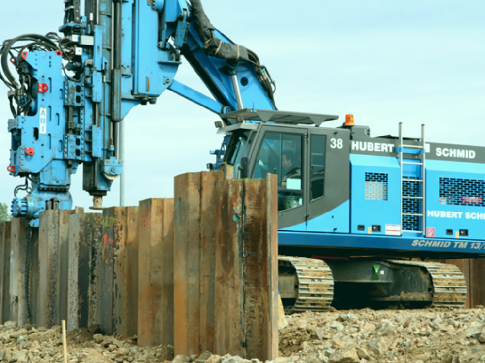 steel sheet piling equipment
