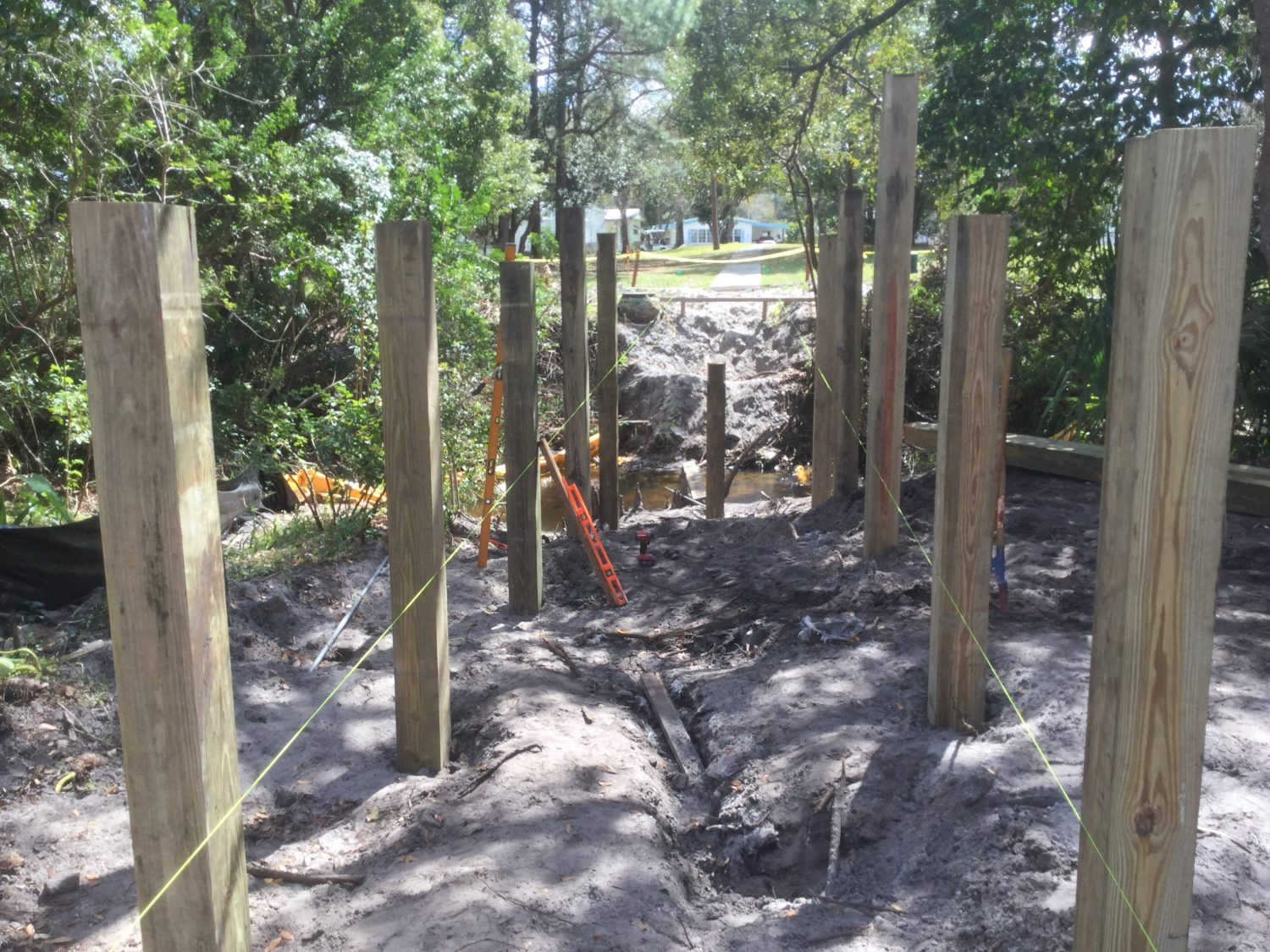 timber pile driving contractors fender marine construction