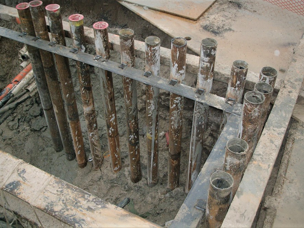 micropile foundation installation