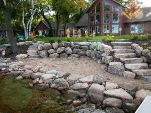private beach stone revetment