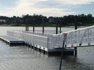 top floating dock contractors fender marine