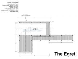 residential dock plan design the egret